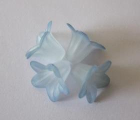 Two Tone Teal Tips Hand Dyed Lily Flower (6)