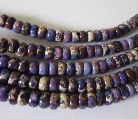 Gemstone Regalite Rondells 6mm x 4mm purple mixed (20)