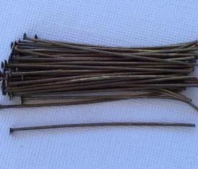 Headpins Antique Brass 2 inches (100)